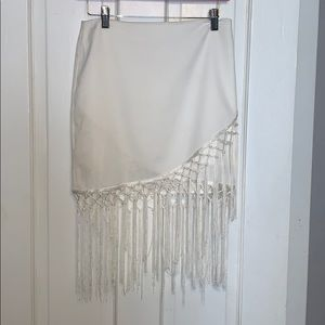 JOA wrap tassel skirt